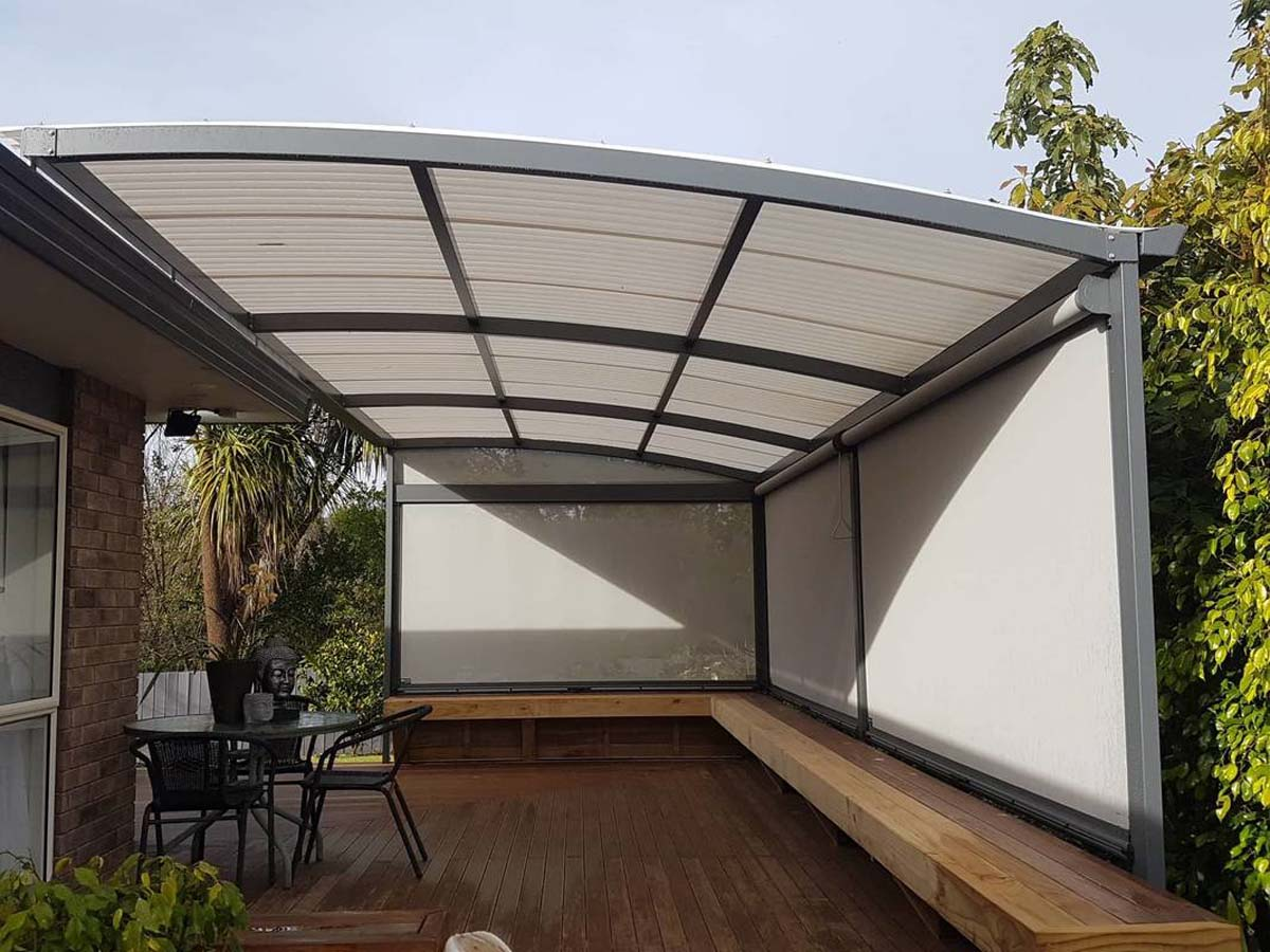 arched awning system