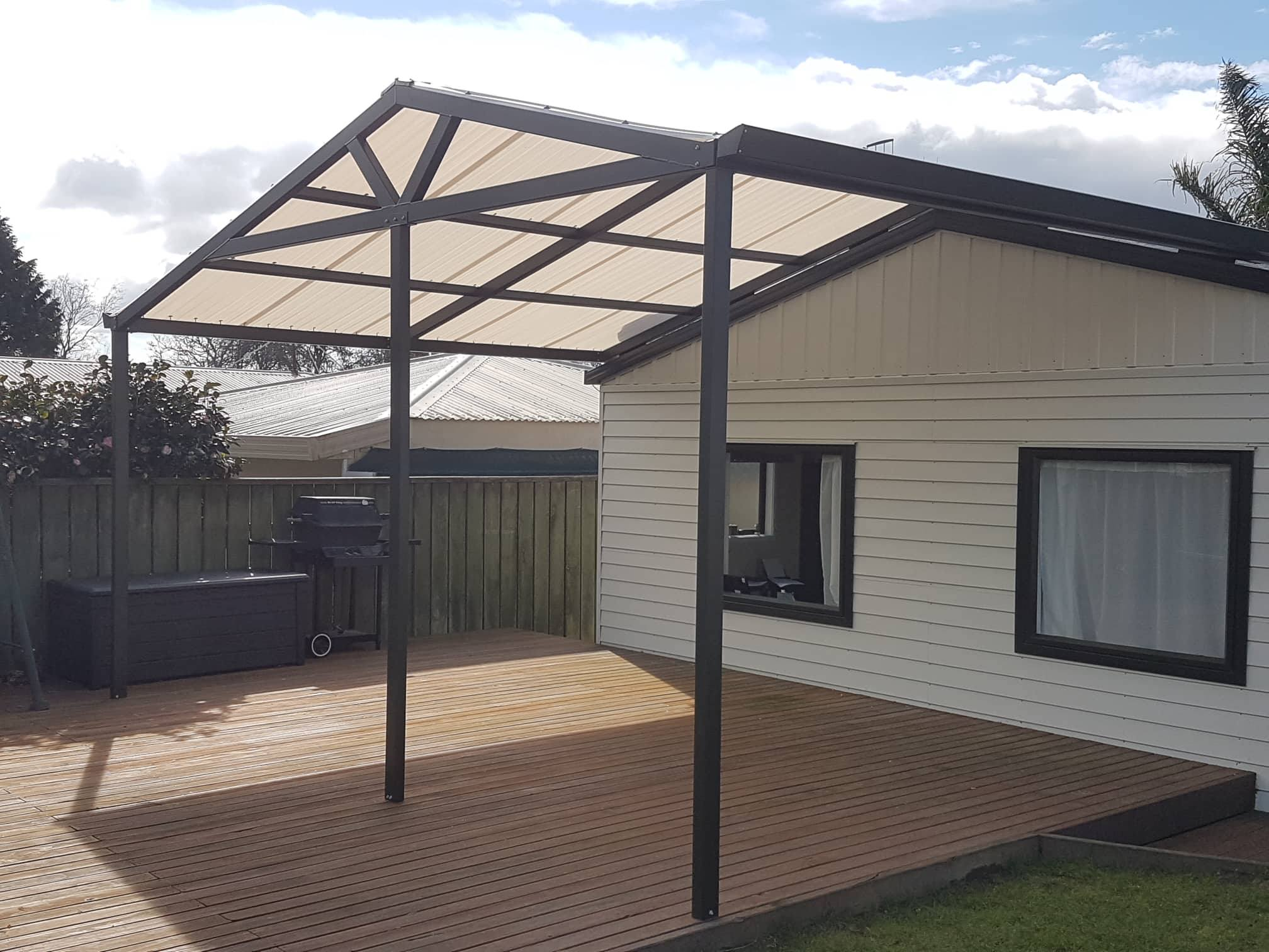Gable Roof Pergola Tauranga Custom Gabled Shades