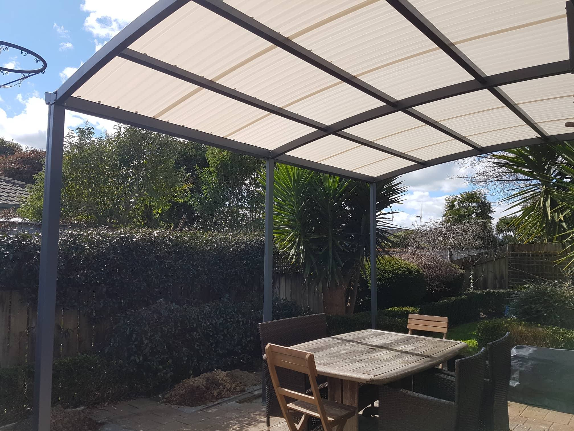 arched pergola system
