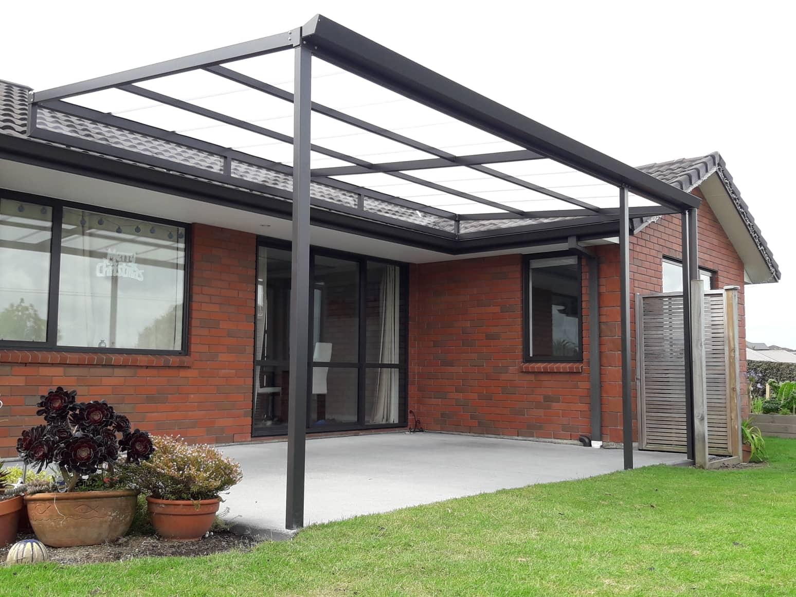 flat roof pergola